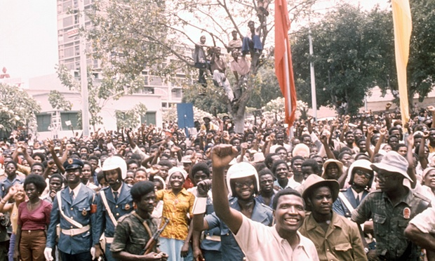 People in Angola celebrate independence from Portugal, 1975. Photograph: Sipa Press/Rex Shutterstock