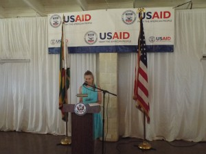 Ms Stephanie Funk, USAID Mission Director in Zimbabwe launches new agricultural support programmes to alleviate poverty in Zimbabwe. Photo credit:Wallace Mawire