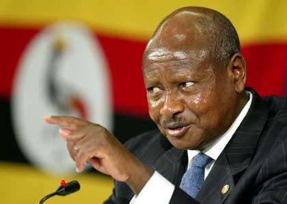 President of Uganda Yoweri K Museveni
