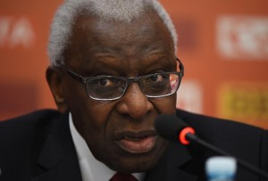 Then-IAAF president Lamine Diack, pictured on August 20, 2015, led the International Athletics Associations Federation during a huge boom in its revenues (AFP Photo/Greg Baker)
