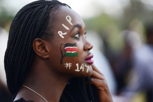 A woman in Nairobi attends a concert in honor of the victims of the terrorist attack that took 147 lives at Garissa University College in April. Simon Maina/AFP/Getty Images