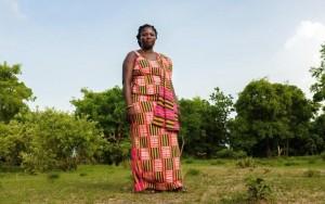 Pognaa Napog Kpintaatobo I near her village of Baazinng CREDIT: NYANI QUARMYNE