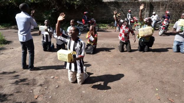 Lucha protest in Goma over lack of water supplies
