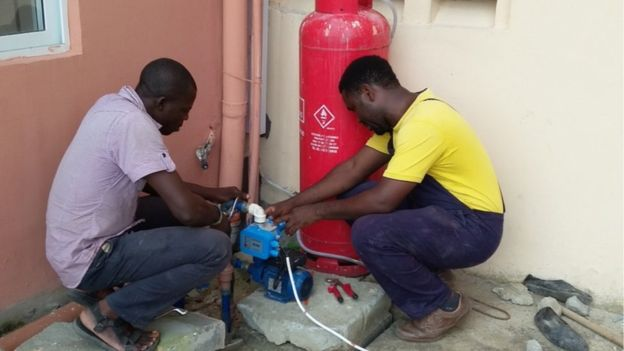 Mr Okoukoni currently employs 12 plumbers and two apprentices