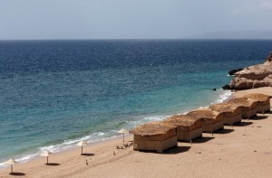 General view of a village in Obock, Djibouti on February 10, 2008 (AFP Photo/Jose Cendon)