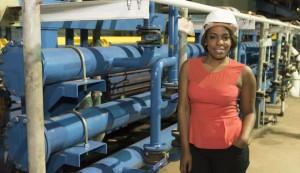 Sanga de Almeida, VP and CMO of K2L Capital, inside the ADA Steel Mill, first establishment of its kind in Angola. Courtesy of K2L Capital