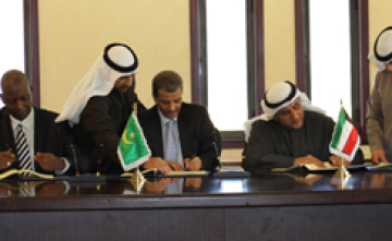 Photo: Kuwait Fund Signing of a Loan Agreement in the Amount of US$ 21 Million for the Participation in Financing of the Deposit and Development Fund Operations Project in the Islamic Republic of Mauritania