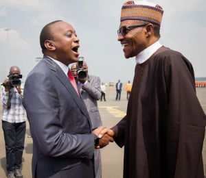 Uhuru Kenyatta of Kenya and Buhari of Nigeria