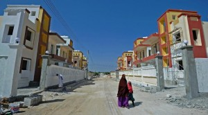 New housing estates are being built amid an economic boom as diaspora Somalis return and newly wealthy businessmen capitalise on the relative peace in Mogadishu (AFP Photo/Mohamed Abdiwahab)