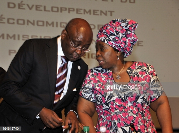 AU Chairperson Dr Dlamini Zuma with Donald Kaberuka