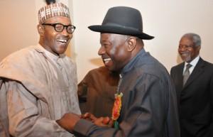 President Buhari with his predecessor Goodluck Jonathan