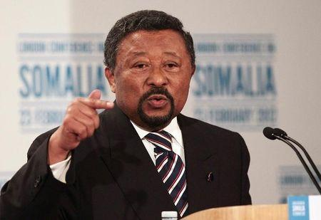 Former African Union commission chairman Jean Ping attends a press conference following the Somalia Conference at Lancaster House in London February 23, 2012. U.S. REUTERS/Peter Macdiarmid/POOL