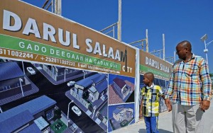 Those returning to Somalia -- including investors wanting to start new business in the their homeland -- say the Daru Salaam estate offers them a more secure place to live (AFP Photo/Mohamed Abdiwahab)