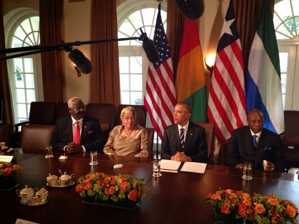 President Obama with leaders from Sierra Leone, Liberia and Guinea affected by Ebola