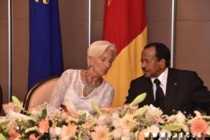 Christine Lagarde with President Paul Biya