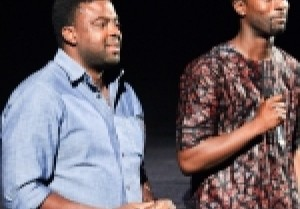 Serge Noukoue, Co-founder of NollyWood Week Film Festival with director Kunle Afolayan whose film October 1 was shown at NollywoodWeek Paris 2015
