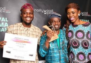 Tunde Kelani won the People's Choice Award for his film Dazzling Mirage, NollywoodWeek Paris 2015