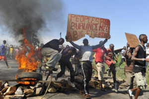Protests against President Pierre Nkurunziza. Photo: AFP