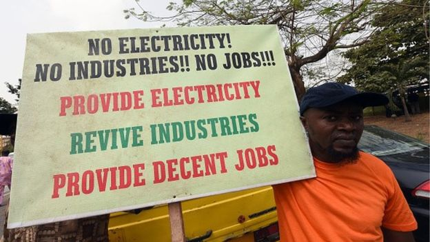 Many Nigerians are forced to rely on generators for their electricity supply