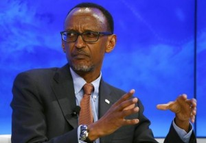 """Paul Kagame, President of Rwanda attends the session """"The Transformation of Tomorrow"""" during the annual meeting of the World Economic Forum (WEF) in Davos, Switzerland January 20, 2016. REUTERS/Ruben Sprich"""