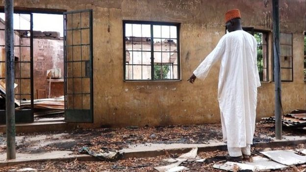 "Boko Haram, which means ""Western education is forbidden"", has often attacked schools"