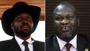 Rivalry between Mr Kiir (L) and Mr Machar transformed into open conflict in late 2013