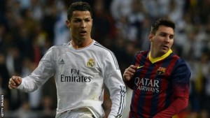 Is Cristiano Ronaldo (left) better than Lionel Messi? The debate has divided many football fans for years