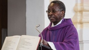 Fr Ndjimbi-Tshiende says he does not want to give interviews about the racist abuse