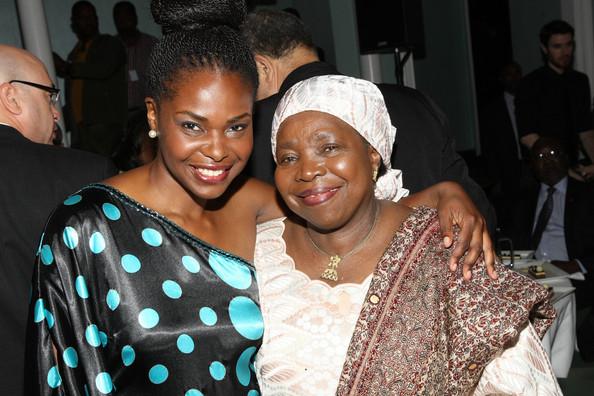 (L) Amini Kajunju and Dr. Nkosazana Dlamini Zuma attend Africa-America Institute 60th Anniversary Awards Gala at New York Hilton on September 25, 2013 in New York City. (Sept. 24, 2013 - Source: Bennett Raglin/Getty Images North America)