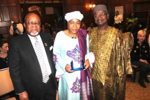 Ambassadors Joseph Smith of Ghana and Tiena Coulibaly of Mali with Prof Alidou