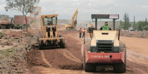 A road construction in progress. The Arusha-Holili/Taveta-Voi road is one of the transport corridors of the EAC region meant to reduce the cost of doing business. Photo/FILE  NATION MEDIA GROUP
