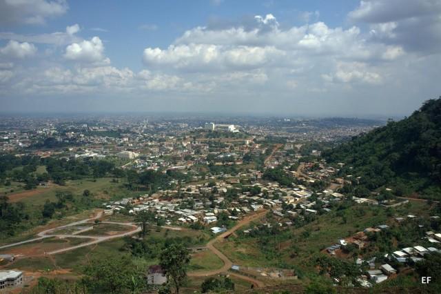 Overlooking Yaoundé. Credit: Emmanuel Freudenthal.
