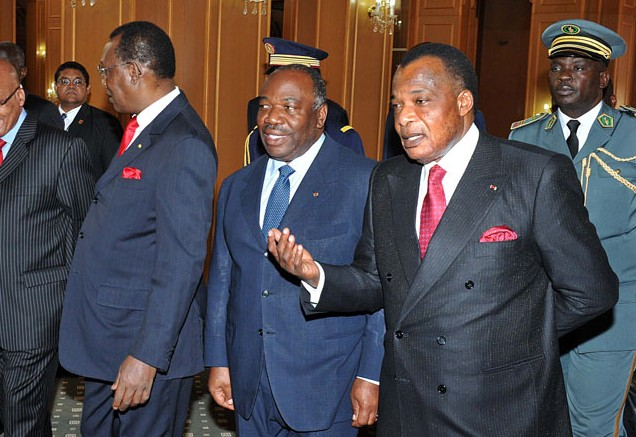 President Denis Sassou Nguesso (right) will almost certainly extend his rule after Sunday's elections. Credit: GCIS.