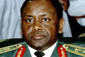 Late Nigerian military leader General Sani Abacha, shown in this September 1993 file photo, is suspected of looting billions in public funds during his five year reign. FILE PHOTO/REUTERS