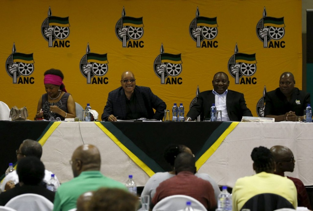 South Africa's President and ANC president Jacob Zuma attends the party's three-day National Executive Committee (NEC) meeting in Pretoria, in this March 18, 2016 file photo. REUTERS/Siphiwe Sibeko/Files