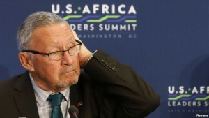 FILE - Zambia's former interim president Guy Scott.