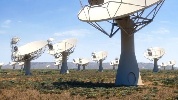 The Square Kilometre Array, shown in part in this artist's impression, would not work in Europe