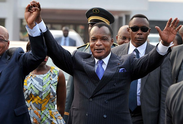 "President Denis Sassou Nguesso has been described as a ""a caricature of kleptocracy, of a rich head of state that leads a poor country"". Credit: GCIS."