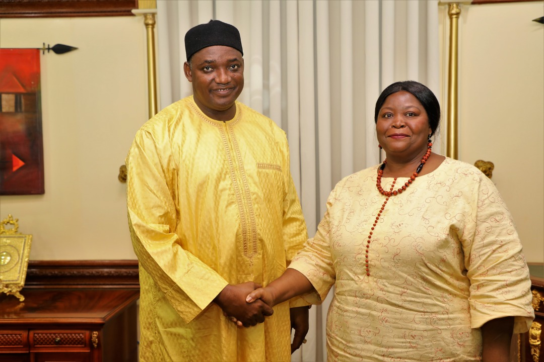 President Barrow with FAO Rep