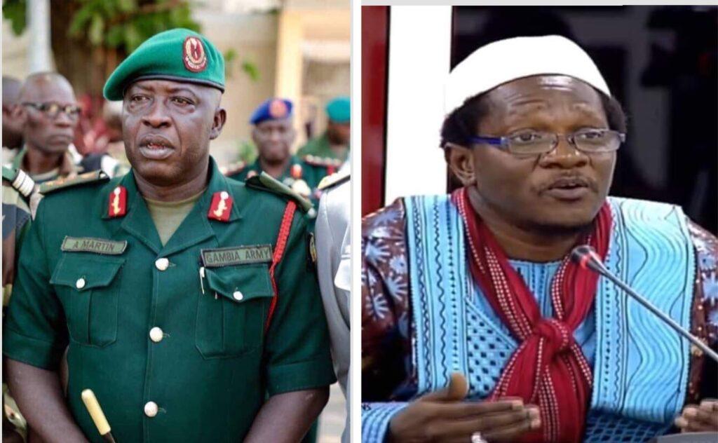 Brigadier General Alhagie Martin and former AFPRC Junta vice chairman Sana Sabally .pIC credit Gambiana