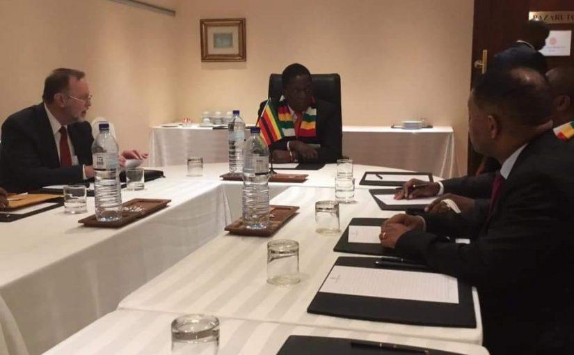 Assistant Sec Nagy with President Mnangagwa in Zimbabwe