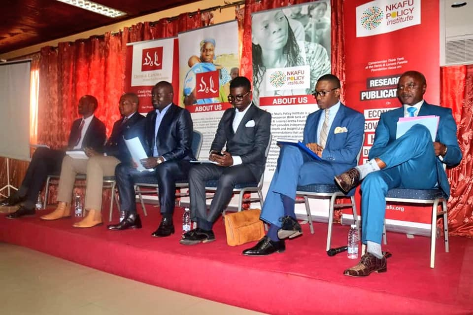 Panellists at the first Nkafu policy debate