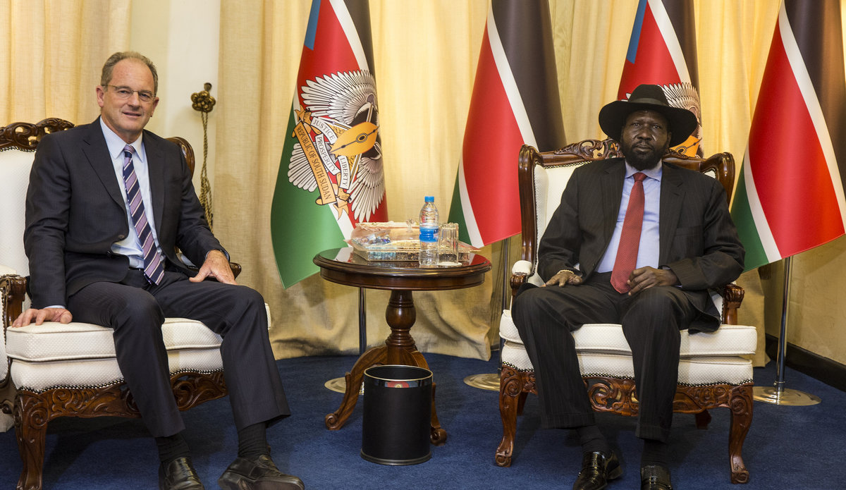 UNMISS chief with President Kiir