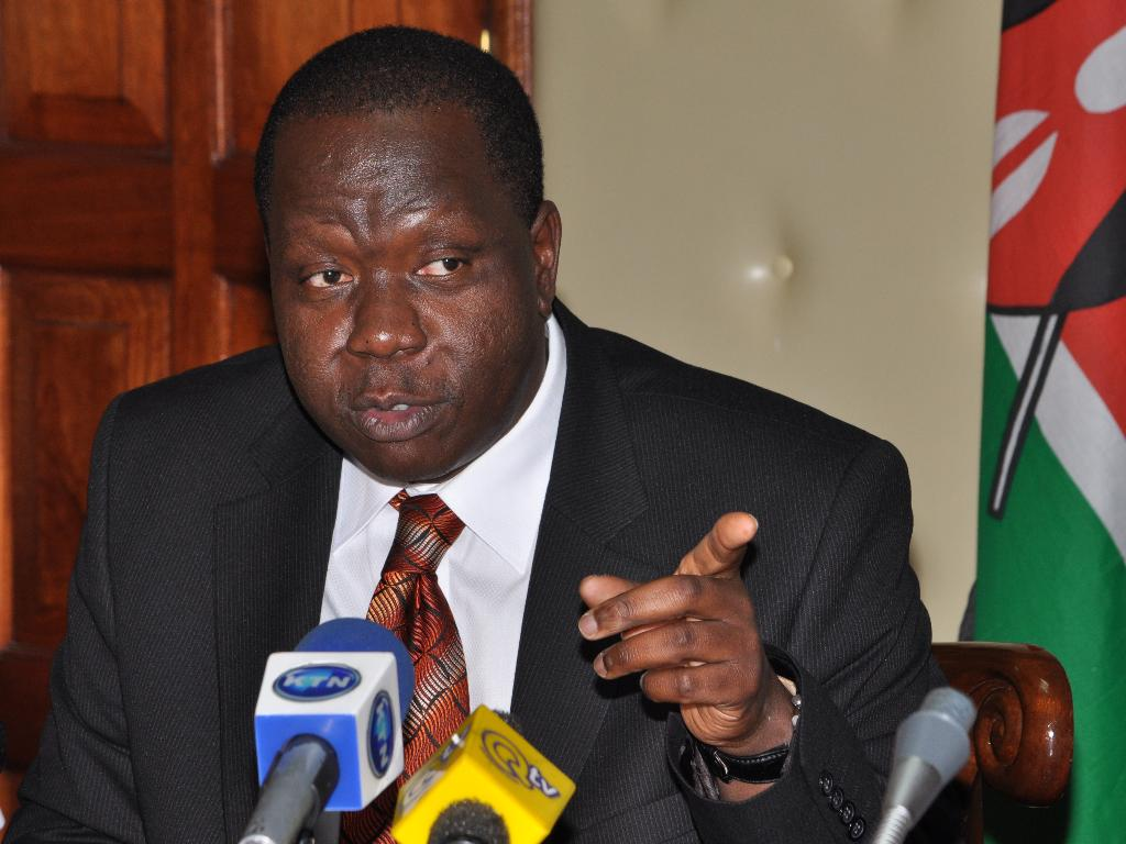 Interior Cabinet Secretary Dr. Fred Matiang'i