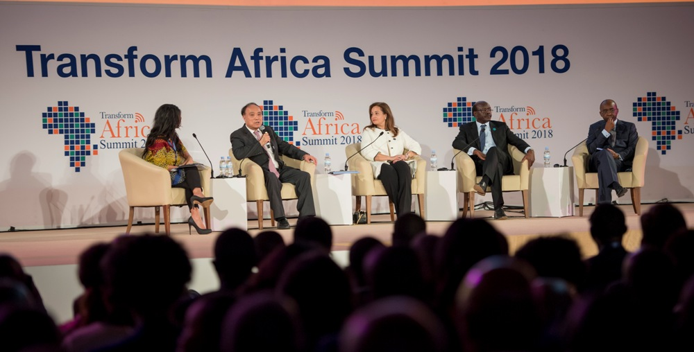 Panelists discuss how to accelerate African Single Digital Market in Kigali last year. Smart Africa is the organiser of annual Tranform Africa Summit. Courtesy photo
