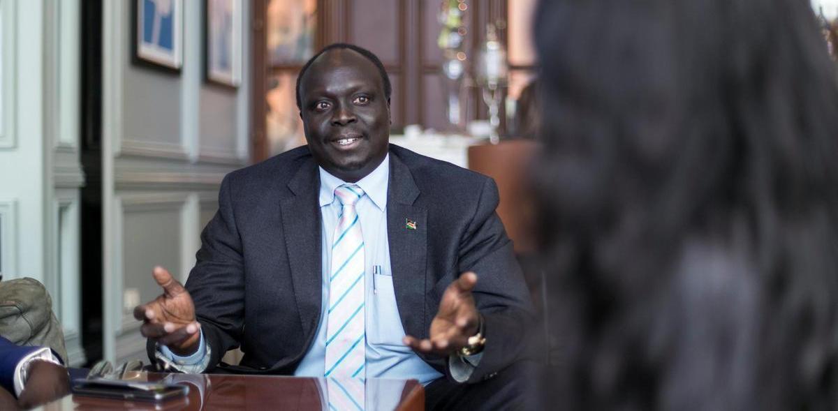 Oil Minister Daniel Awow