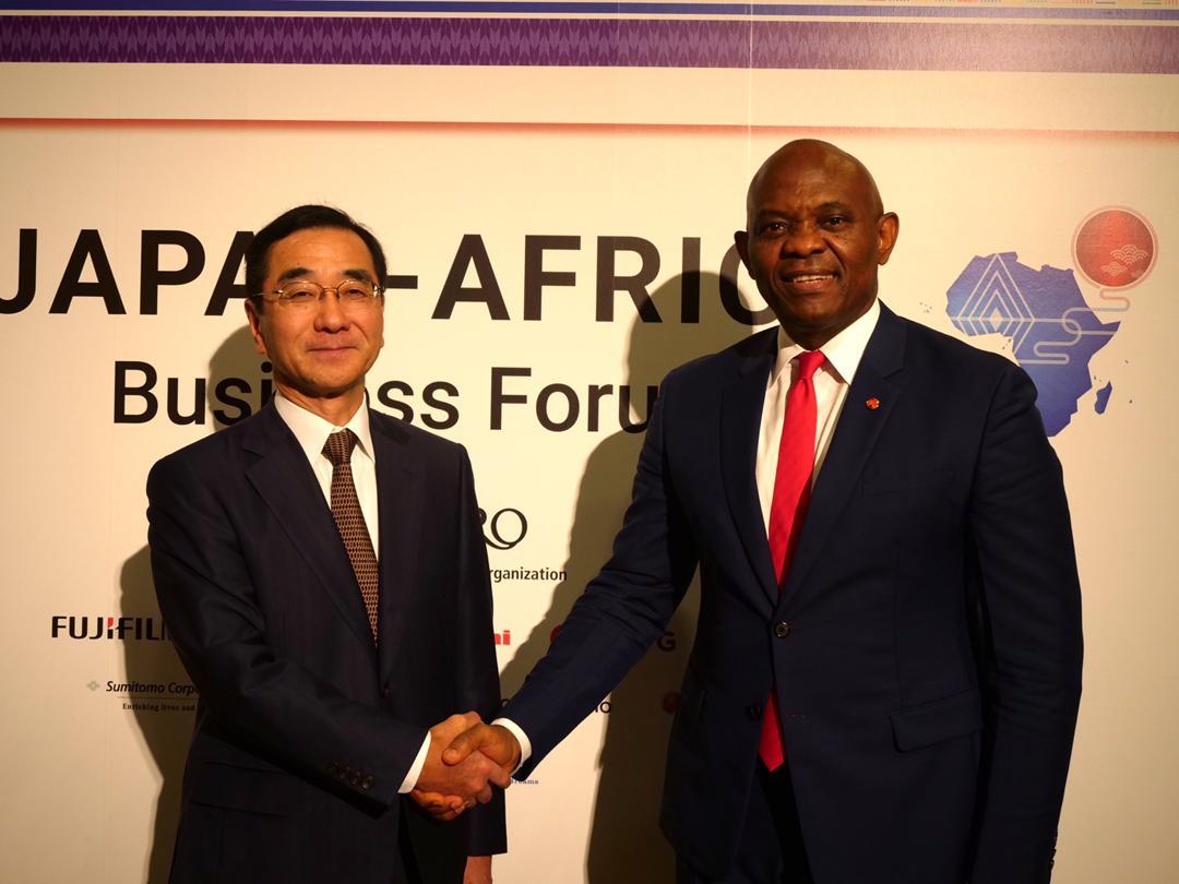 Elumelu with JETRO Chairman