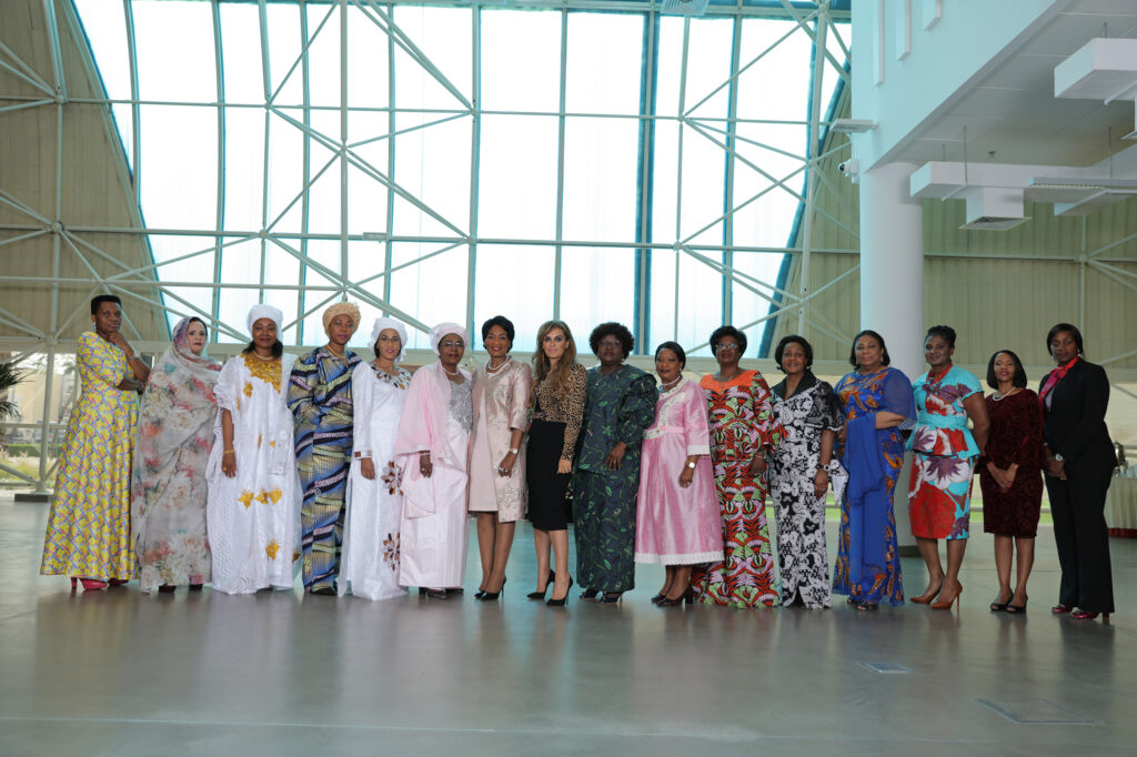 Dr. Rasha Kelej, CEO of Merck Foundation with H.E. First Ladies of Burundi, Guinea Conakry, Sierra Leone, Gambia, Niger, Malawi, Mozambique, Zimbabwe, Central African Republic, Congo Brazzaville, Ghana, Namibia, Botswana, Liberia and Former First Lady of Mauritania
