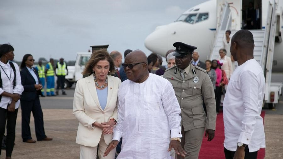 Speaker Pelosi in Ghana