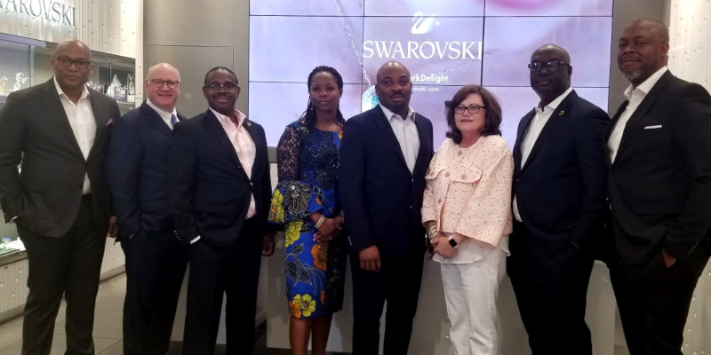 President, Payment Services, Discover Financial Services; Francis Gbenga Shobo, Deputy Managing Director, First Bank; Olubusola Osilaja, Divisional Head, eBusiness, Access Bank; Martins Izuogbe, Divisional Head, Operations, Fidelity Bank; Diane Offereins, Executive Vice President, Payment Services, Discover; Chuma Ezirim, Group Executive, Retail & E-Business, First Bank; and Mike Ogbalu, Divisional CEO, Verve, at the Verve Global Card Launch in New York, on Monday.